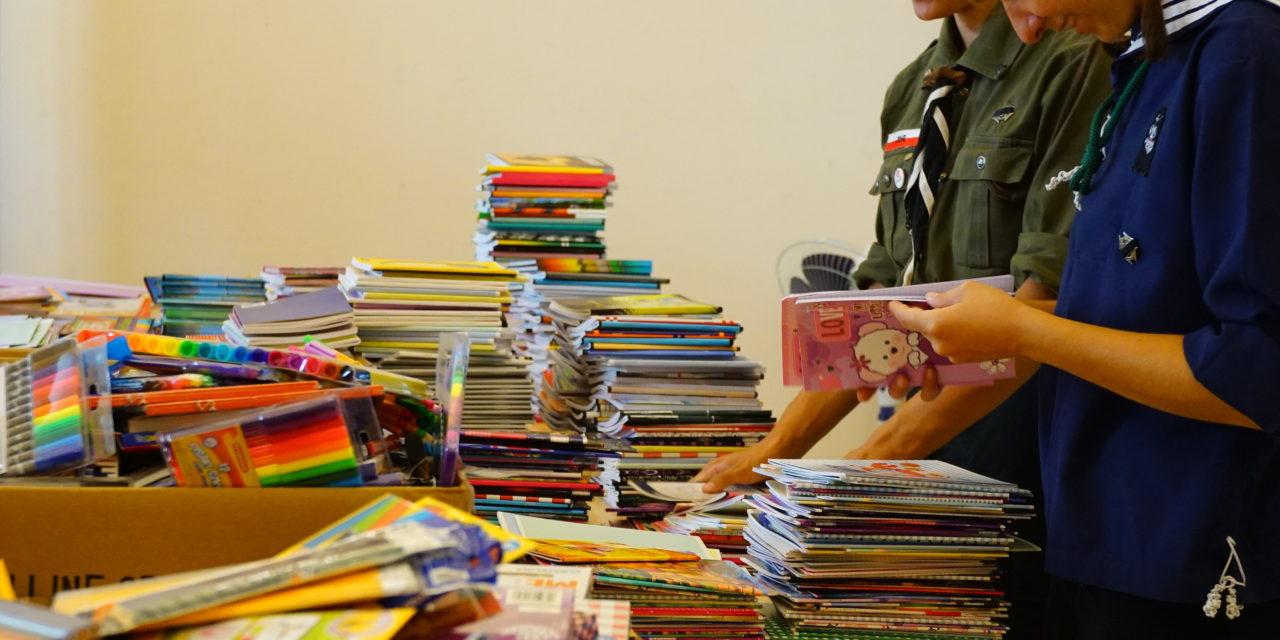 Zbiórka artykułów szkolnych dla Żaczka
