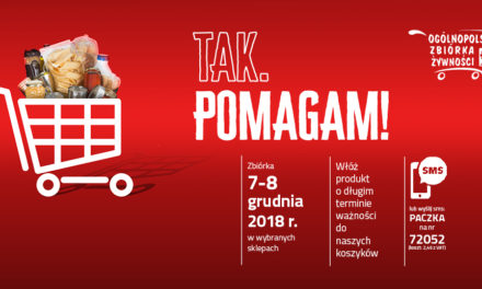 XV Jubileuszowa Zbiórka Żywności Caritas TAK, POMAGAM!